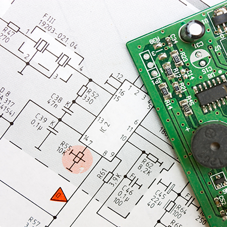 A PCB And a circuit diagram